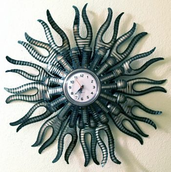 Flame Wall Clock – $90