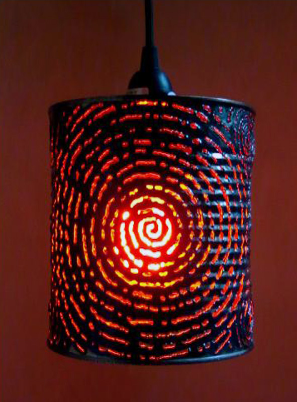 Spiral Canister Lamp – $50