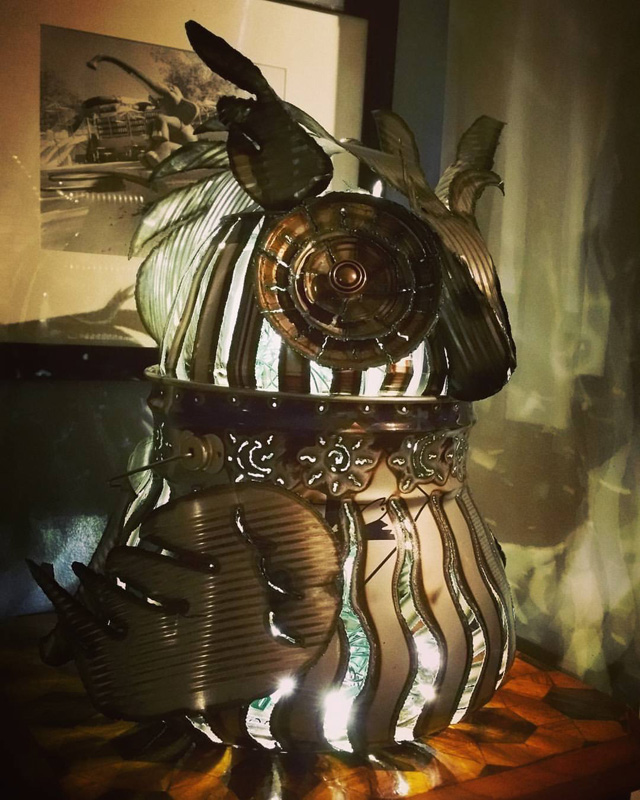 Large Owl with Lights – $215