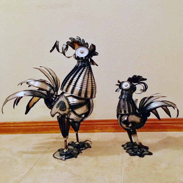 Large & Small Rooster